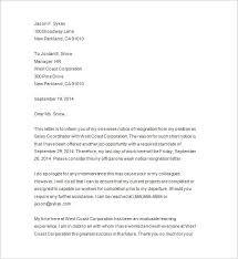Job Resignation Letter Template Sample Notice Letters Magdalene Project Org