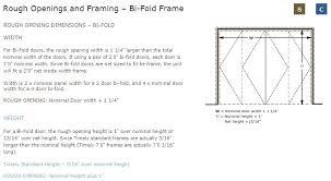 pocket door rough opening size bi fold frame rough opening image sliding patio door rough