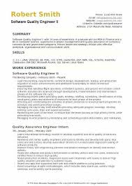 Sample Of Modern Resume For Quality Assurance Specialist Quality Engineer Resume Sample Wikirian Com