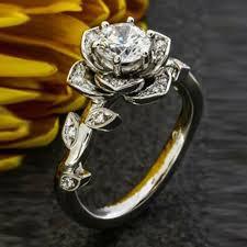 Flower Design Diamond Ring Pin On Accessories