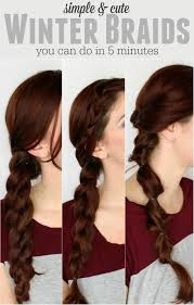 Hairstyle Yourself 3 simple winter braids you can do by yourself pretty extraordinary 5780 by stevesalt.us
