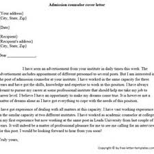 Admissions Counselor Cover Letter Sample
