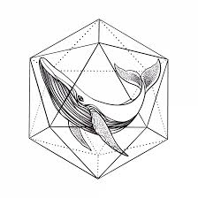 Temporary Tattoo Buy Whale In Geometry Black And White