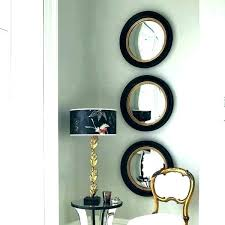 mirror wall decor set of three mirrors best images 3 piece