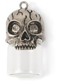 glass vial jewelry pendant