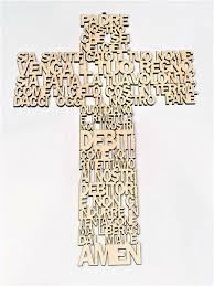 Grafilandia Croce di Legno con Padre Nostro (Mis 30x25cm) (crocifisso)