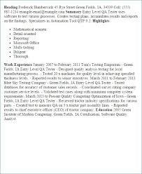 Qtp Sample Resume For Software Testers Lovely Junior Software Tester