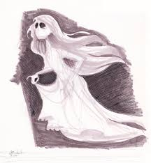 ghost girl drawing. ghost girl drawing