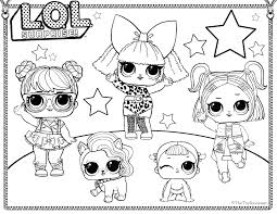 Lol Surprise Doll Printable Coloring Pages