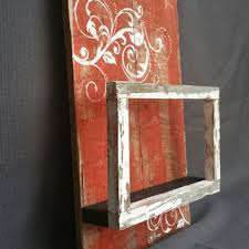 orange hand painted wall art shelf with peeling paint floating frame distressed barnwood  on pallet wall art shabby chic with reclaimed barn wood strips wall art from the white birch studio