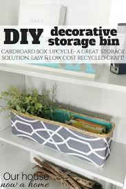 Cardboard Storage Box Decorative DIY decorative storage bin cardboard box upcycle Our House Now 83