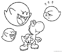 Yoshi as a character was designed and created by shigefumi hino. Yoshi Coloring Pages And Boo Boo Coloring4free Coloring4free Com