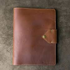 personalized leather padfolio portfolio the made in this beautiful fine monogrammed zipper