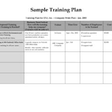 Training Plan Schedule Template Free Word Template Duyudu