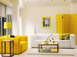 Yellow Living Room Chair Yellow And White Living Room Colors Combinations House