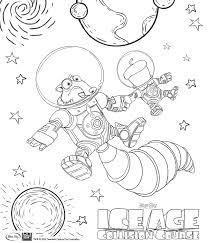 Ice Age Collision Course colouring-in pages for kids - Families Online