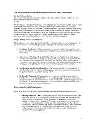 Reentering The Workforce Resume Samples Best of Reentering The Workforce Resume Examples