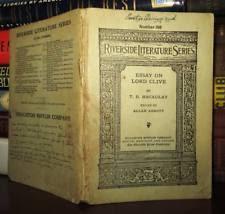 babington  macaulay thomas babington essays on lord clive
