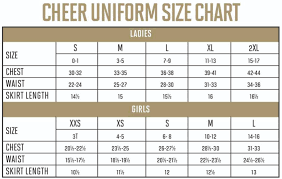 Varsity Cheer Uniform Size Chart Cheerleading Graphs And Charts Related Keywords