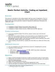 Neehr Perfect Ehr Activity Coding An Inpatient Chart V5 1