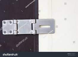 Stainless Steel Hinge Lock On Painted Stock Photo (Royalty Free ...
