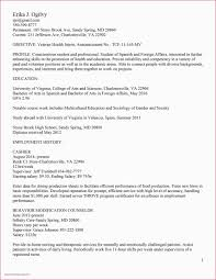 Resume Format Application Sample Resume Format Applying Abroad Valid 40 College Application