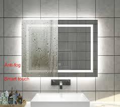 Led Bathroom Tile Lights Us 190 0 Diyhd Wall Mount Led Lighted Bathroom Mirror Vanity Defogger Square Lights Touch Light Mirror In Bath Mirrors From Home Improvement On