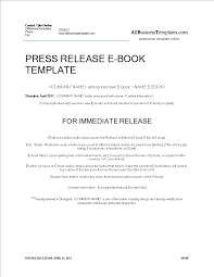 Templates For Press Releases Press Release Ebook Release Templates At