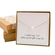 bride dazzle bridesmaid gifts pretty single floating bridal pearl necklace gold color simulated