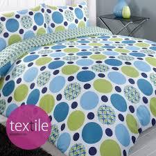 jazz blue green pattern single double king super duvet quilt cover bedding set