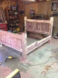 Bed Frame Cedar Bed Post Bed Custom Made Frame Cedar | Etsy