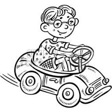 car driving clipart black and white. Exellent Driving Small Boy Driving A Toy Car Throughout Car Driving Clipart Black And White G