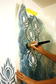 awesome wall stencils ideas painting design for walls designs free awesome wall stencils