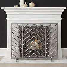 fireplace crate by chevron fireplace screen crate and barrel