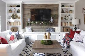 built in living room furniture. christmas living room with bookcases converted into builtins love the bench between built in furniture