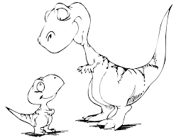 Small Picture Cute Dinosaur Coloring Pages GetColoringPagescom