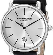 stuhrling watches stuhrling original ascot mens black watch stuhrling original ascot mens designer watch swiss quartz