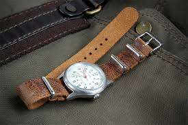 leather nato 18mm distressed
