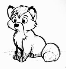 Small Picture Coloring Fox Coloring Pages Baby Cute At And The Hound Pages