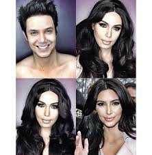 man transforms into woman with makeup vidalondon