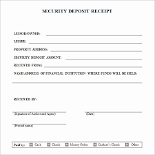 Security Deposit Receipt Template Best Of How To Write A