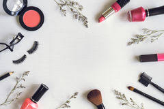 fashion mint liner eyeshadows free makeup cosmetics and brushes stock photo 90654430