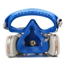 silicone full face respirator gas mask goggles comprehensive cover paint chemical pesticide mask dustproof fire