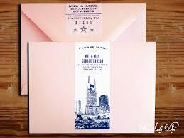 City Skyline Inspired Nashville Wedding Invitation My Lady Dye Nashville Wedding Invitations