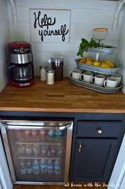 Bar In Kitchen Diy Beverage Bar At Home With The Barkers