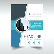 abstract annual report book cover template free vector page