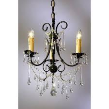 vintage dark green clear crystal french glass 3 light chandelier light