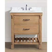 Ari Kitchen And Bath Marina 30 In Single Bath Vanity In Driftwood With Marble Vanity Top In Carrara White With White Basin Akb Marina 30dw The Home Depot