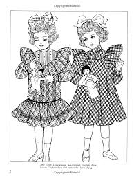 Old Time Children S Fashions Coloring