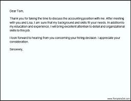 Thank You Letter After Phone Interview Recruiter Templatezet